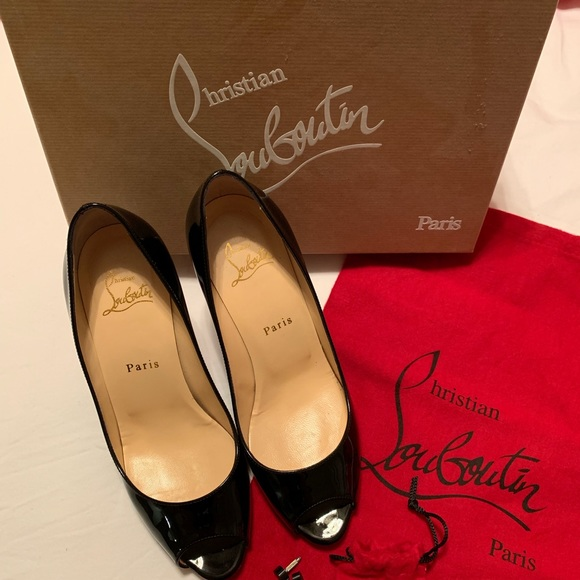 competitive price 38773 f83c2 Christian Louboutin Youyou patent 85mm pump black